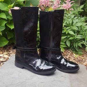Girls Tall Black Boots